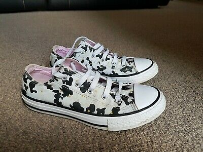 Converse All Star Trainers, White/Grey Camouflage, Size UK 2, Used • 6.49£