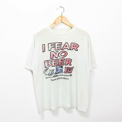 $ CDN44.56 • Buy Vintage T Shirt 90s XL - Mexican Beer Tecate Corona Boxy Distressed Faded Funny
