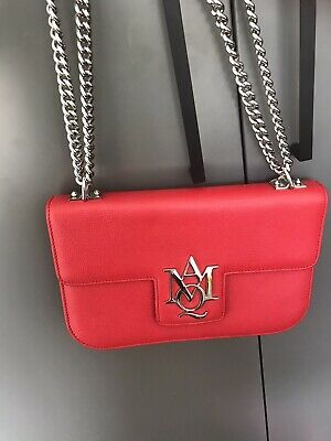 AU688 • Buy Alexander Mcqueen Red Leather Bag