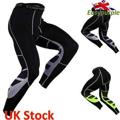 Men's Workout Leggings Compression Sport Gym Running Pants Base Layer Trousers • 5.09£
