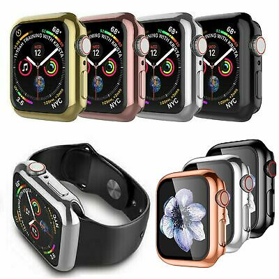 $ CDN3.72 • Buy Apple Watch Series 4 5 6 SE  40/44mm  Full Cover Snap On Screen Protector Case