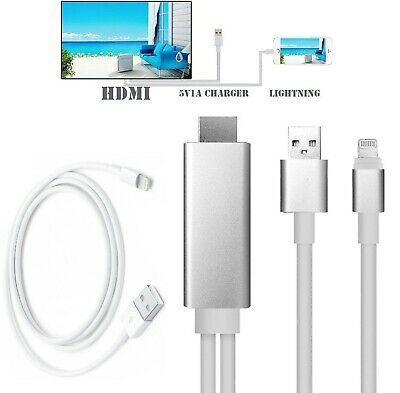 £8.95 • Buy Lighting To HdMI Cable 2M TV AV Adapter Charger For Ipad Iphone 11 X XS 8 7 6 5