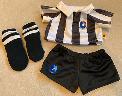 Build A Bear Workshop Black And White Football Outfit With Padded Socks • 1£