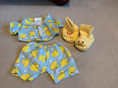 Build Your Bear Workshop Duck Pajamas And Slippers Outfit (without Bear) • 1£