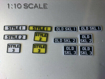 1/10 Custom Scale UK RC 3D Printed Number Plates. Crawler Accessories TRX SCX10 • 5£