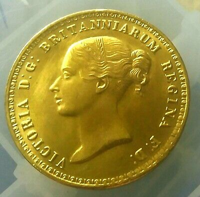 1839 Queen Victoria £5 Una And The Lion ~ Gold Plated Coin • 2.20£