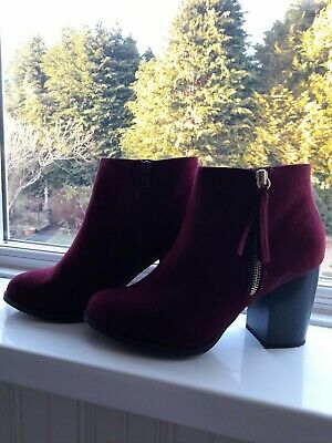 Burgundy Ankle Boots Size 6 • 2.90£