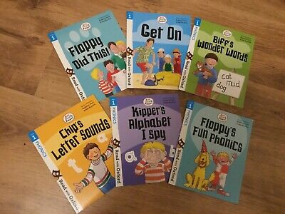 6 NEW Oxford Reading Tree Books, Stage 1 Phonics, Suit Age 3+ • 12£