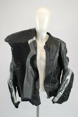 Triumph Men's Motorcycle Two Piece Jacket & Trousers Leather & Textile Large • 29.99£