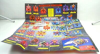 $35 • Buy MOTU, Figures Checklist Poster, Masters Of The Universe, He-Man, Vehicles