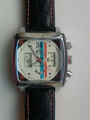 Mens Watch Racing Le Mans Steve McQueen Monaco  Porsche Gulf  Goodwood With Tag • 62.88£