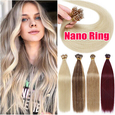 £32.97 • Buy 1G/S Micro Loop Nano Ring Bead Links Remy Human Hair Extensions Pre Bonded THICK
