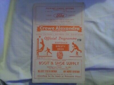 Crewe Alexandra V Southend United, Season 1966/67, Division Four • 0.50£