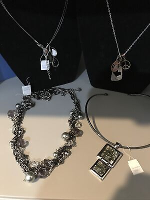 $ CDN31.79 • Buy LOT OF 4 Beautiful Lia Sophia NECKLACES - NEW WITH TAGS & GIFT BOXES!