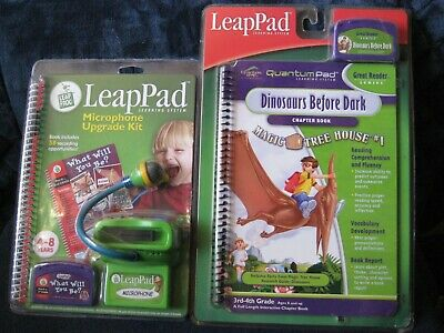 £14.37 • Buy LeapPad Microphone Upgrade Kit And Dinosaurs Before Dark Book W/Cartridge~2 SETS