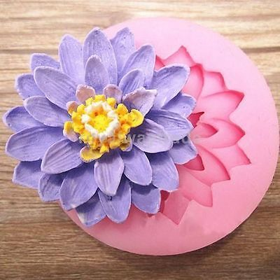 $ CDN4.53 • Buy 3D Lotus Flower Silicone Fondant Mold Cake Chocolate Candy Decor Sugarcraft Mold