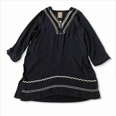 $ CDN31.55 • Buy Anthropologie Embroidered Navy Tunic Top Sz Small