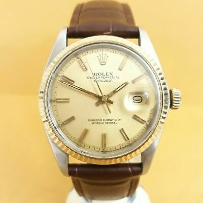 $ CDN4353.04 • Buy Rolex Datejust 1601 Stainless Steel With 18k Yellow Gold Bezel Ivory White Dial