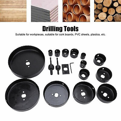 £15.22 • Buy 19HOLE SAW KIT SET 19-152mm HEAVY METAL CIRCLE CUTTER ROUND DRILL WOOD DOWNLIGHT