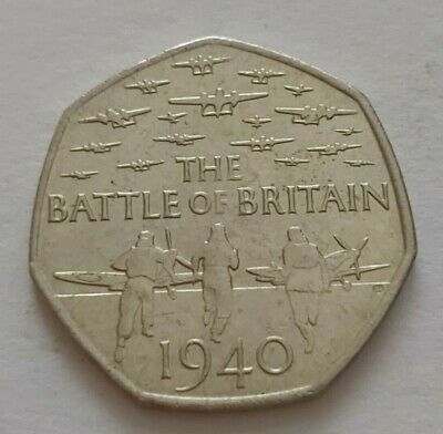 2015 The Battle Of Britain 1940 50p 50 Pence Coin • 1.49£