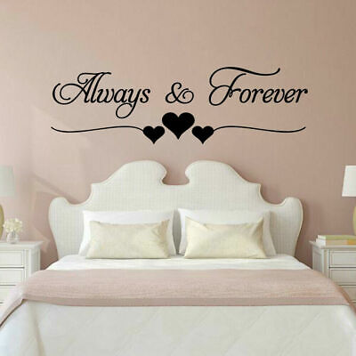 Always And Forever Love Quote Living Room Bedroom Wall Vinyl Decal Sticker V526 • 7.95£