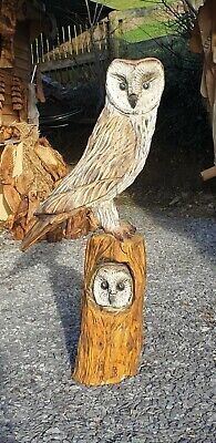 £290 • Buy Chainsaw Carved Solid Oak Owl