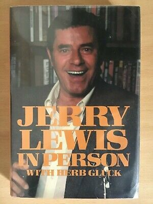 Jerry Lewis, In Person By Jerry Lewis With Herb Gluck (Hardback, 1982) SIGNED • 20£