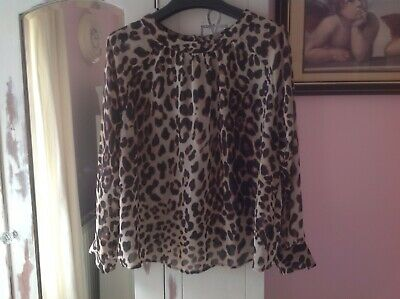 M&s Limited Collection Sheer Leopard Top Size 14 • 4.50£