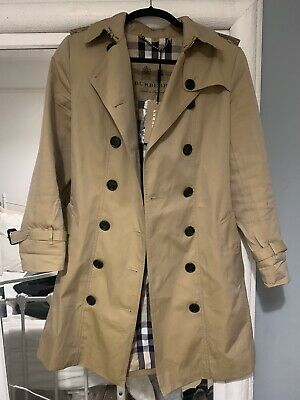 Burberry Chelsea Trench Coat - Honey/Beige (Size 6 - Short 32  Length) • 200£