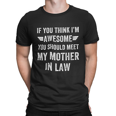 £8.99 • Buy Awesome Mother In Law T-shirt Son In Law Funny Humour Joke Present Gift Slogan