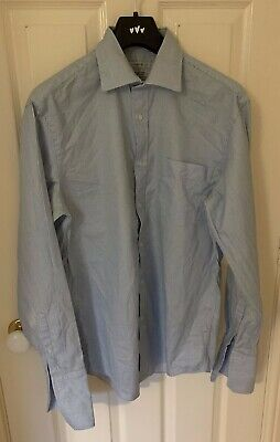 NEXT Blue Mens Tailored Fit Double Cuff Pure Cotton Shirt 16  Collar  • 3.99£