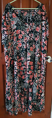 Capsule High/low Short Sleeve Summer Dress Size 24 • 6£
