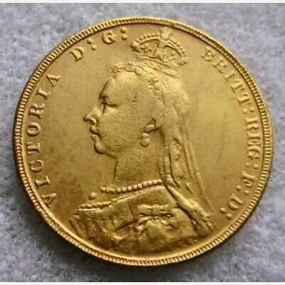 1887 Queen Victoria Jubilee Head Sovereign ~ Gold Plated Re-Strike Coin • 5.15£