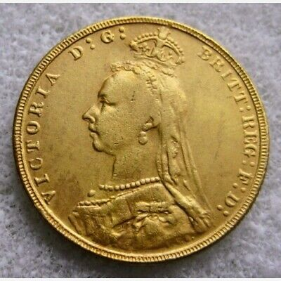 1891 Queen Victoria Jubilee Head Sovereign ~ Gold Plated Re-Strike Coin • 3.95£