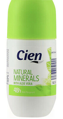 4 X 50ml Cien Roll-On Deodorant Natural Mineral With Aloe Vera Free Delivery • 6.99£