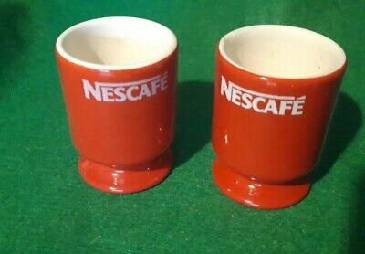 Pair Of Nescafe Red And White Egg Cups • 5£