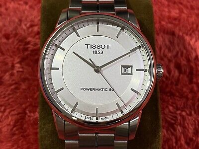 TISSOT Luxury Powermatic 80 Automatic Mens Watch - Silver - NEW OTHER • 319£