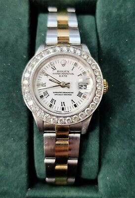 $ CDN6582.97 • Buy Ladies Diamond Rolex 18Kt And Stainless Steel Box Papers Oyster Perpetual Extra
