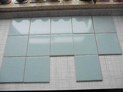 £19.99 • Buy NEW UNUSED Vintage CRISTAL Wall Tiles By H&R Johnson Limited - LIGHT BLUE