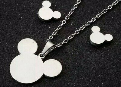 £4.99 • Buy Mickey Mouse Jewellery Set Earrings And Necklace Princess Disney Gift Jewellery