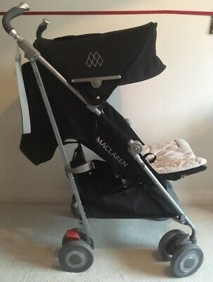 View Details MACLAREN  Techno XLR  black Silver  Umbrella Pushchair Stroller • 120.00£
