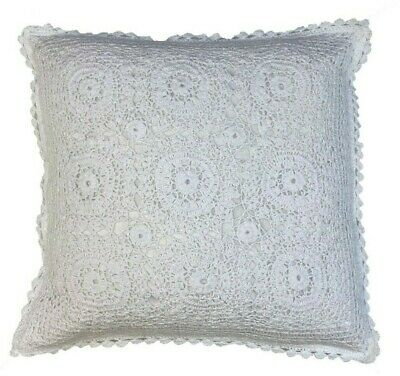 Boho Indian 100% Cotton Crochet White Hand Made Lace 18 Cushion Cover £7.99 • 7.99£