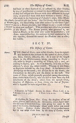 1747. The History Of Crete. A Single Chapter Disbound From An Universal History, • 17.99£