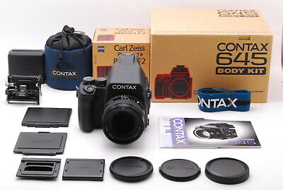 $ CDN6963 • Buy 【Mint W/BOX】Contax 645 Body W/Carl Zeiss Planar 80mm F/2 T* Lens (4430-E360)