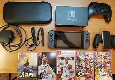 AU400 • Buy Nintendo Switch Console With Pro Controller, 5 Games, Carry Case, SD Card
