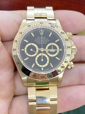 $ CDN59173.09 • Buy Rolex Daytona 18K Solid Yellow Gold Zenith 16528 W Serial 1995 (Rolex Serviced)
