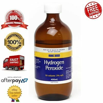 AU18.89 • Buy Gold Cross Hydrogen Peroxide 3% Effective Cleansing Solution Mouthwash 400ml
