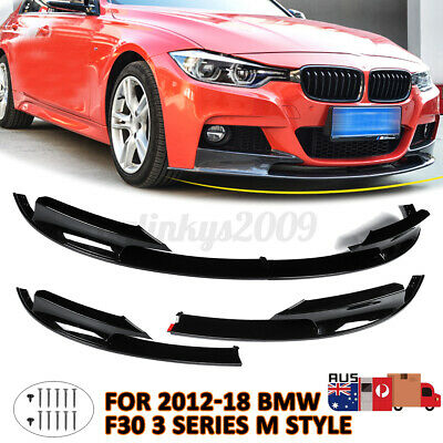 AU70.99 • Buy AU!! For BMW 12-18 F30 3 Series Front Bumper Cover Lip Surface M Style   !G%
