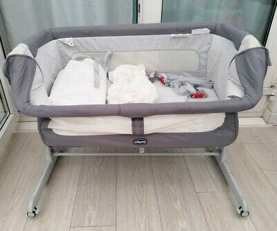 Next2me Crib Dream Graphite Chicco Baby Co Sleeping Cot Bedside Next To Me • 74£