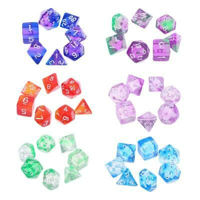 AU5.41 • Buy 7pcs Transparent Sided Dice D4 D6 D8 D10 D12 D20 Dungeons & Dragon D&D RPG Poly